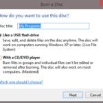 วิธีเขียนแผ่น CD DVD โดยไม่ต้องใช้โปรแกรม